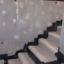 Cavity wall membrane on staircase