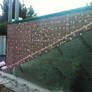 Earth retaining wall (side view)