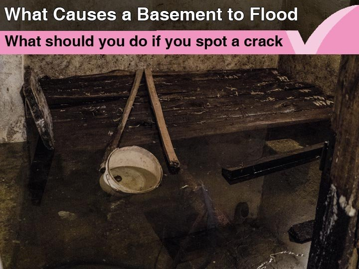 What causes a basement to flood?