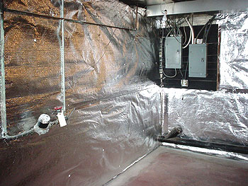 waterproof wall insulation on the wall