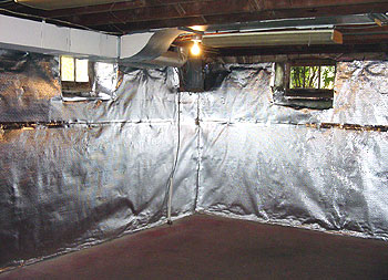 Wall insulation waterproof insulation for Basement insulation blanket