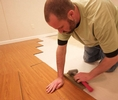Installing waterproof wood flooring