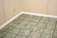 Waterproof floor tiles